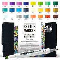 Набор маркеров SKETCHMARKER Базовые цвета Basic set 1 24 цветов