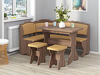 Кухонный уголок Цезарь с простым  столом и табуретками  Пехотин.