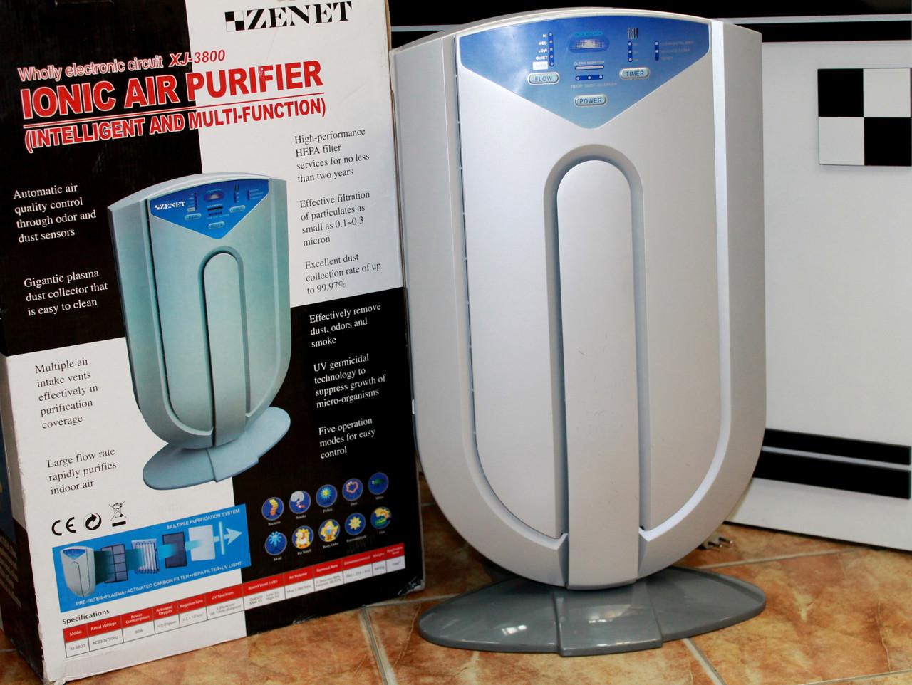 Іонний очищувач повітря ZENET XJ-3800