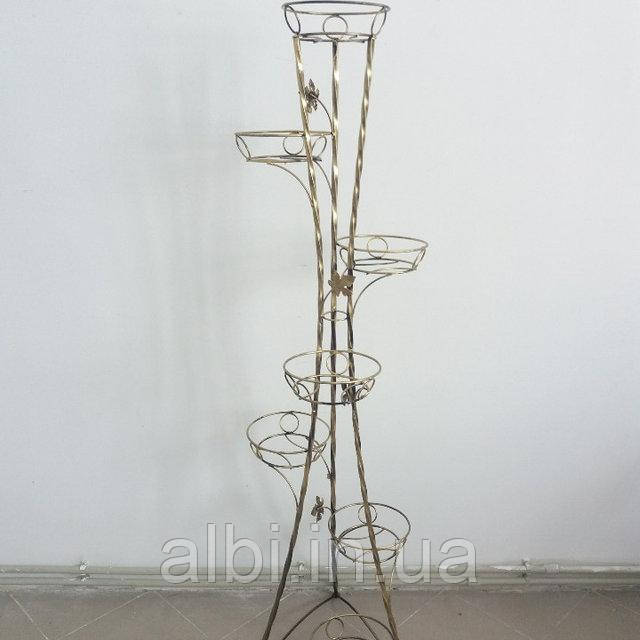 Кованая подставка для цветов Башня на 7 вазонов