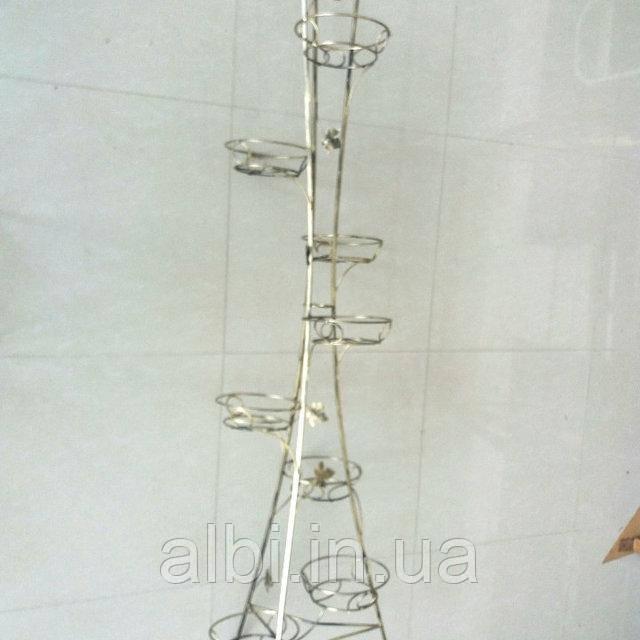 Кованая подставка для цветов Башня на 9 вазонов