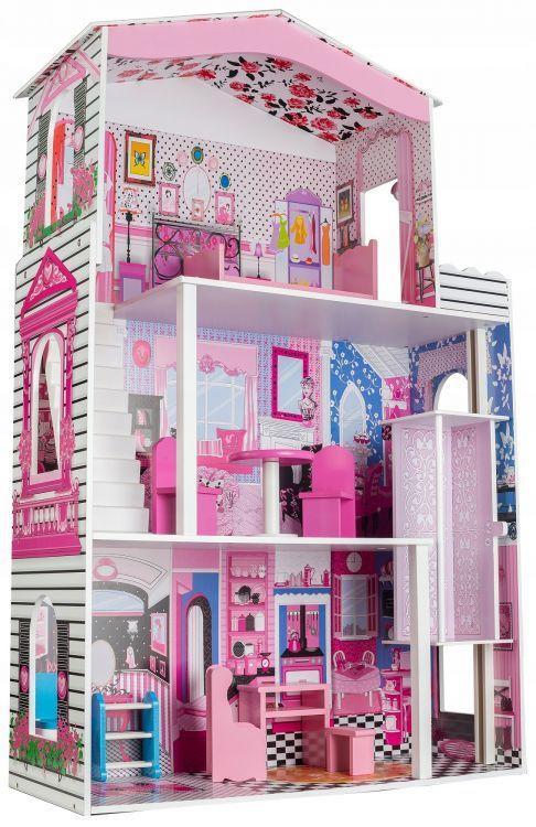 """Деревянный кукольный домик для Барби EcoToys """"Кукольный дворец"""""""