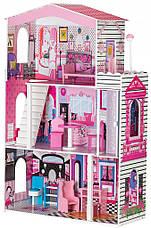 """Деревянный кукольный домик для Барби EcoToys """"Кукольный дворец"""", фото 3"""