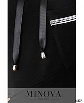 Спортивный костюм теплый женский черный большие размеры размер от 52 до 62, фото 2