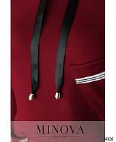 Спортивный костюм теплый женский черный большие размеры размер от 52 до 62, фото 3