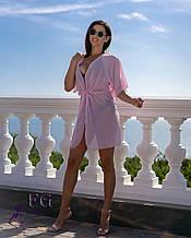 """Пляжна туніка """"Морський бриз""""  10 кольорів 42-44, рожевий"""