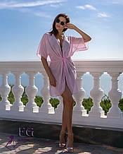 """Пляжная туника """"Морской бриз""""  11 цветов 46-48, Розовый"""