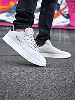 Мужские кроссовки Adidas SC PREMIERE (в стиле Адидас) белые, натуральная кожа