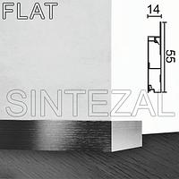 Алюминиевый встроенный плинтус Progress PROSKIRTING FLAT, высота 60 мм., фото 1