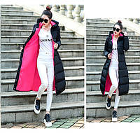 Женское двухцветное зимнее пальто пуховик парка с капюшоном.., фото 1