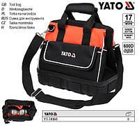 """сумка для інструменту 15"""" YATO Польша 17 кишень гумове дно YT-74360"""