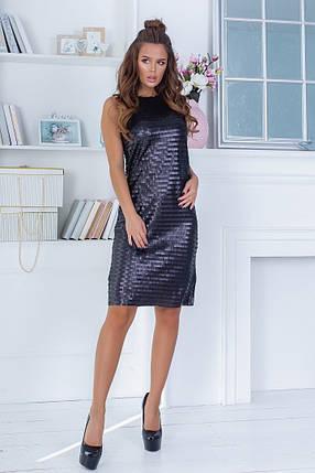 """Нарядное облегающее мини-платье без рукавов """"DAIZY"""" с пайетками, фото 2"""