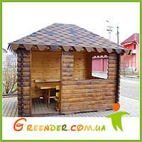 Беседка деревянная закрытого типа №1 300х240