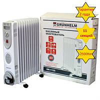 Масляный обогреватель Grunhelm GR-1125 2,5кВт, масляный радиатор