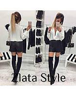 Женские стильные кожаные шорты