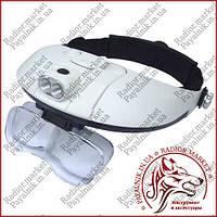 Бинокулярная лупа очки MG 81001-G с Led подсветкой, фото 1