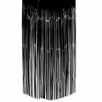 Шторка занавес из фольги для фото зон чёрная 1х2 метра