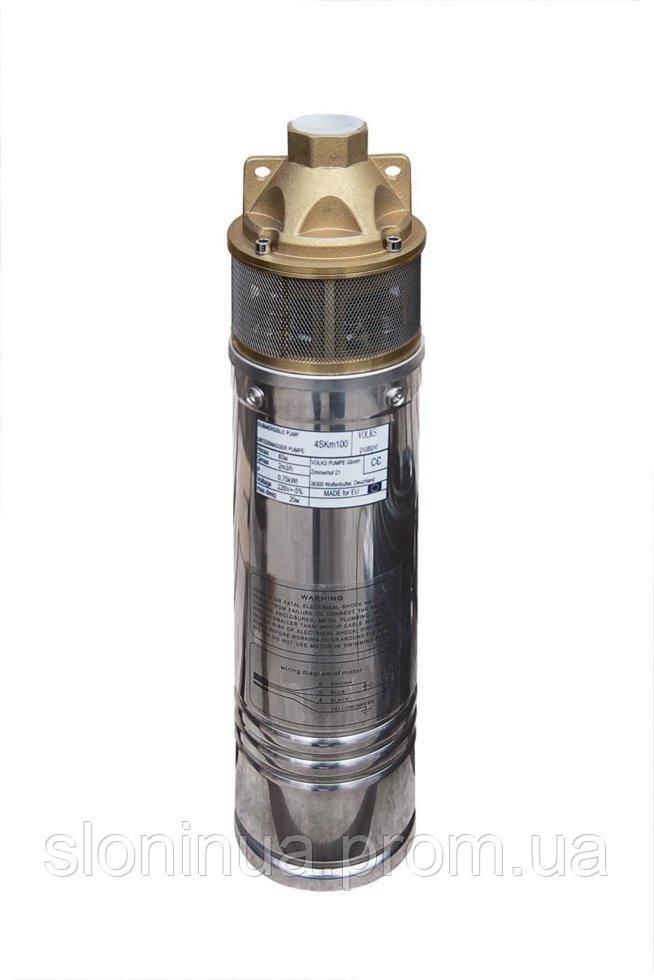 Насос скважинный вихревой VOLKS pumpe  4SKm100 0.75кВт + кабель 15м и пульт