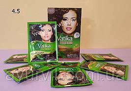 Краска на основе хны,  4,5 / Vatika Hair Colour Powder / 60 г (6 пакетиков по 10 г )