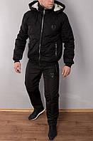 Мужской теплый зимний костюм.Мужской стеганый костюм, на овчине Philipp Plein.ТОП качество!!!