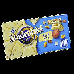 "Шоколад Studentska Bila ""БЕЛЫЙ"" с арахисом и желе,180г (1ящ/16шт)"