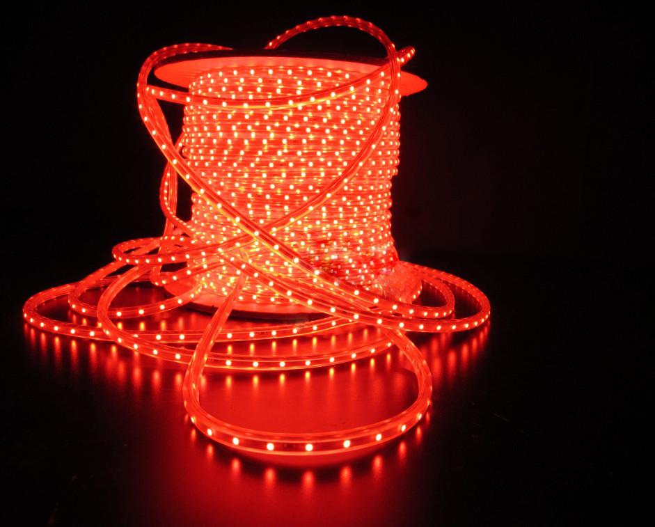 Уличный плоский светодиодный шнур Lumion Led Duralight 6*12 мм 60 LED/м.п. наружный цвет красный