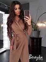 Платье женское стильное на запах миди разные цвета Sms3452