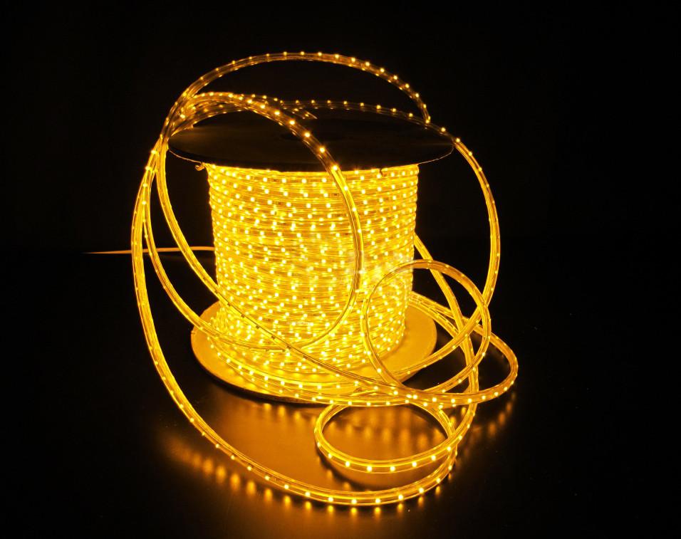 Уличный плоский светодиодный шнур Lumion Led Duralight 6*12 мм 60 LED/м.п. наружный цвет желтый