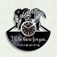 Часы Друзья Сериал Друзья Часы Friends Часы виниловые настенные Декор виниловый Фигурные кварцовые часы 300 мм