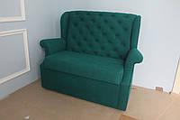 Маленький кухонный диван с вместительным ящиком (Зелёный)