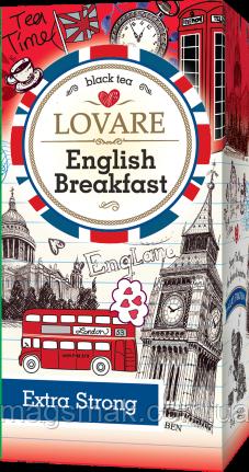 Чай Lovare / Ловаре Английский завтрак, 24 пакета