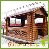 Беседки деревянные для сада №2 300х400