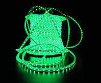 Уличный плоский светодиодный шнур Lumion Led Duralight 6*12 мм 60 LED/м.п. наружный цвет зеленый