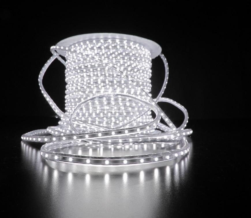 Уличный плоский светодиодный шнур Lumion Led Duralight 6*12 мм 60 LED/м.п. наружный цвет белый