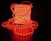 Уличный плоский светодиодный шнур Lumion Led Duralight 6*15 мм 60 LED/м.п. наружный цвет красный