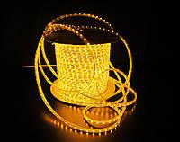 Уличный плоский светодиодный шнур Lumion Led Duralight 6*15 мм 60 LED/м.п. наружный цвет желтый