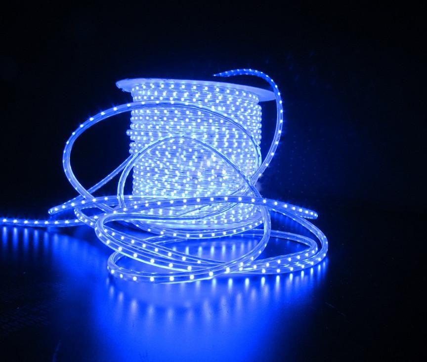 Уличный плоский светодиодный шнур Lumion Led Duralight 6*15 мм 60 LED/м.п. наружный цвет синий