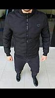 Мужская куртка на осень ЛЮКС КАЧЕСТВО. Матовая непромокаемая плащевка, утеплитель тинсулейт. Размеры S-2XL