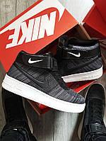 Мужские кроссовки Nike Air Force Flyknit Hight Dark Grey