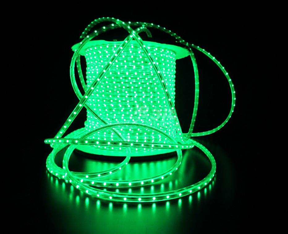 Уличный плоский светодиодный шнур Lumion Led Duralight 6*15 мм 60 LED/м.п. наружный цвет зеленый