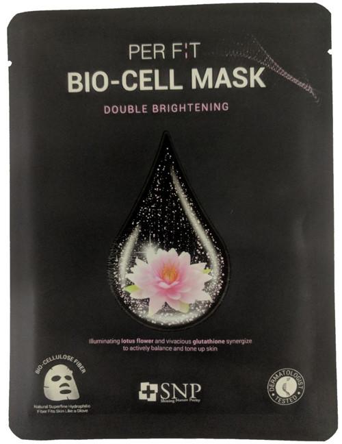 Биоцеллюлозная маска с экстрактом лотоса и глутатиона SNP Brightening Bio-cell Mask, 1 шт