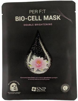 Биоцеллюлозная маска с экстрактом лотоса и глутатиона SNP Brightening Bio-cell Mask, 1 шт, фото 2