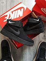 Мужские кроссовки Nike Air Force Flyknit Hight Black