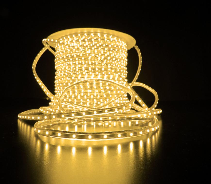 Уличный плоский светодиодный шнур Lumion Led Duralight 6*15 мм 60 LED/м.п. наружный цвет белый теплый