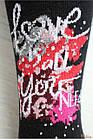 "ОПТОМ Колготки со стразами ""Love is all you need"" для девочки (134-140 / 9-10 лет)  Pier Lone 8681788316174, фото 3"
