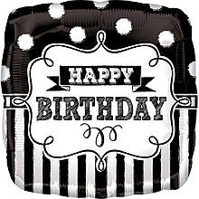"Фольгована кулька квадрат Happy Birthday 18"" Anagram"