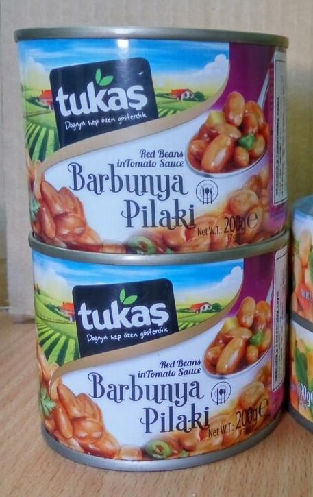 Фасоль Tukas Barbunya Pilaki  200 gr (Фасоль красная в томатном соусе)
