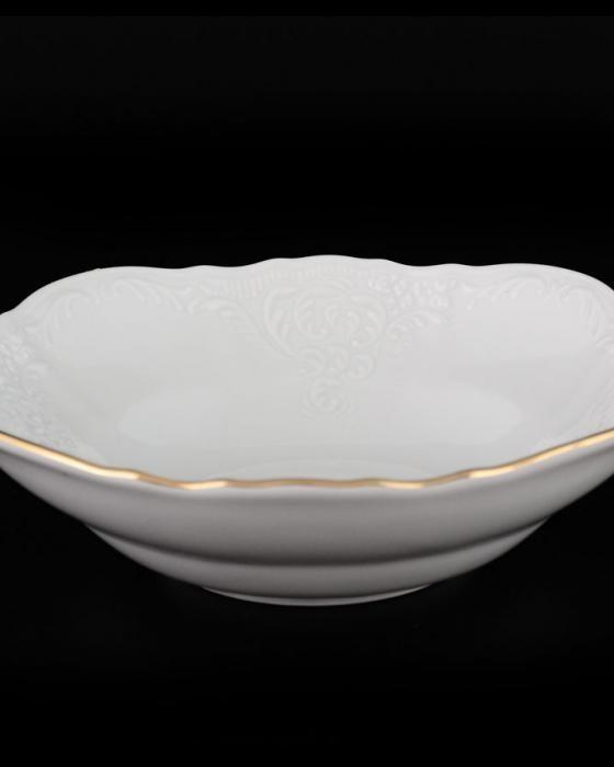 Салатник Thun Bernadotte (Обводка золото) d13 см фарфор (311011M з)