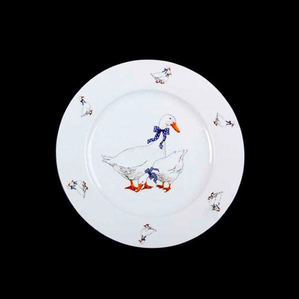 Тарелка десертная Thun Saphir (Гуси) 6 штук d19 см фарфор (2642300)