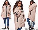 Пальто женское  плащевка .Длинная курточка, фото 3